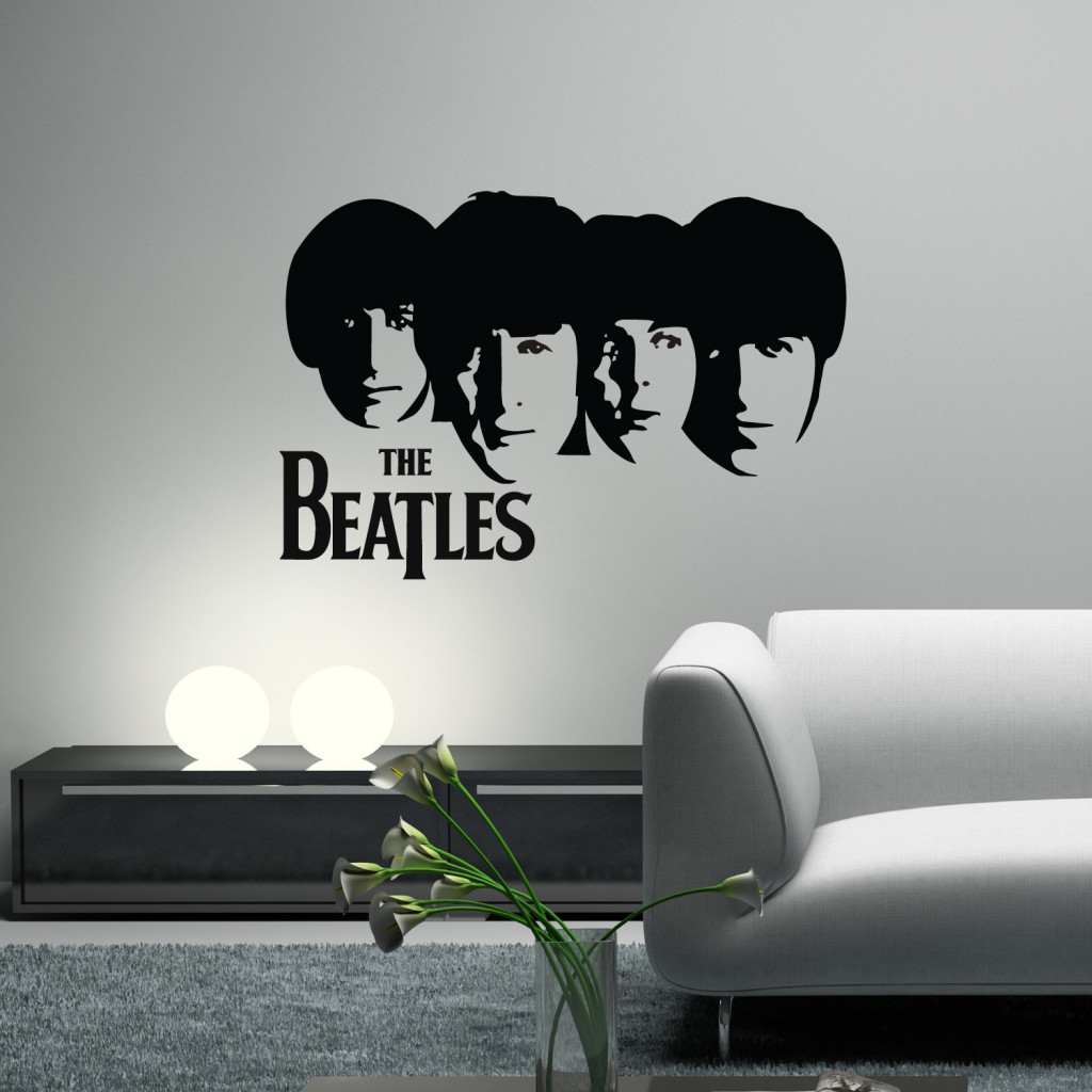 Dekorasi Dinding Rumah Siluet The Beatles